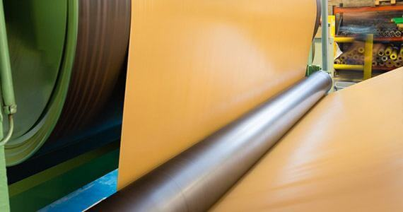 process of manufacturing of rubber coated fabrics