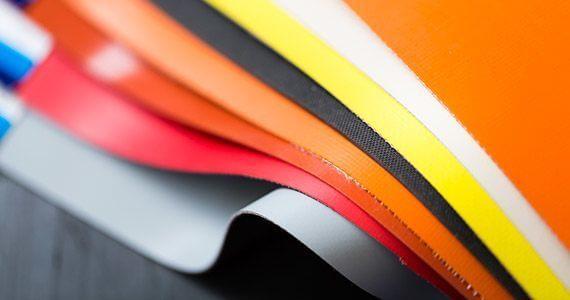 range of rubber coated fabrics